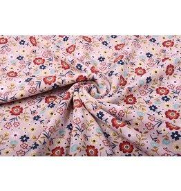 SweatStoff Alpenfleece Süße Kleine Blumen Altes Rosa