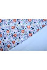 Jogging Alpenfleece Sweet Little Flowers Blue