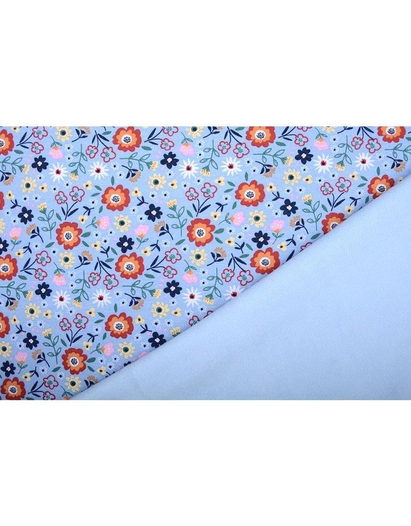 Jogging Alpenfleece Sweet Little Flowers Blauw