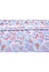 Poly Satijn Driehoeken Multi