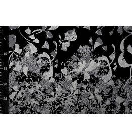 Digital Panel Viskose Jersey Wavuka Grau