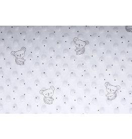 Koala Minky Fleece Silver