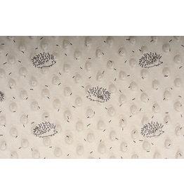Hedgehog Minky Fleece Beige