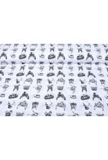 Stenzo 100% Baumwolle Tierköpfe Weiß