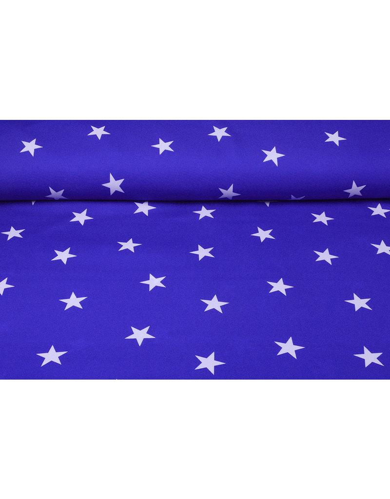 Bi-Stretch Sterren Konings Blauw