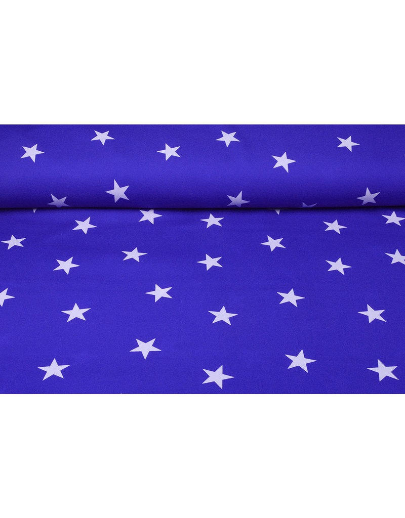 Bi-Stretch Sterren Koningsblauw