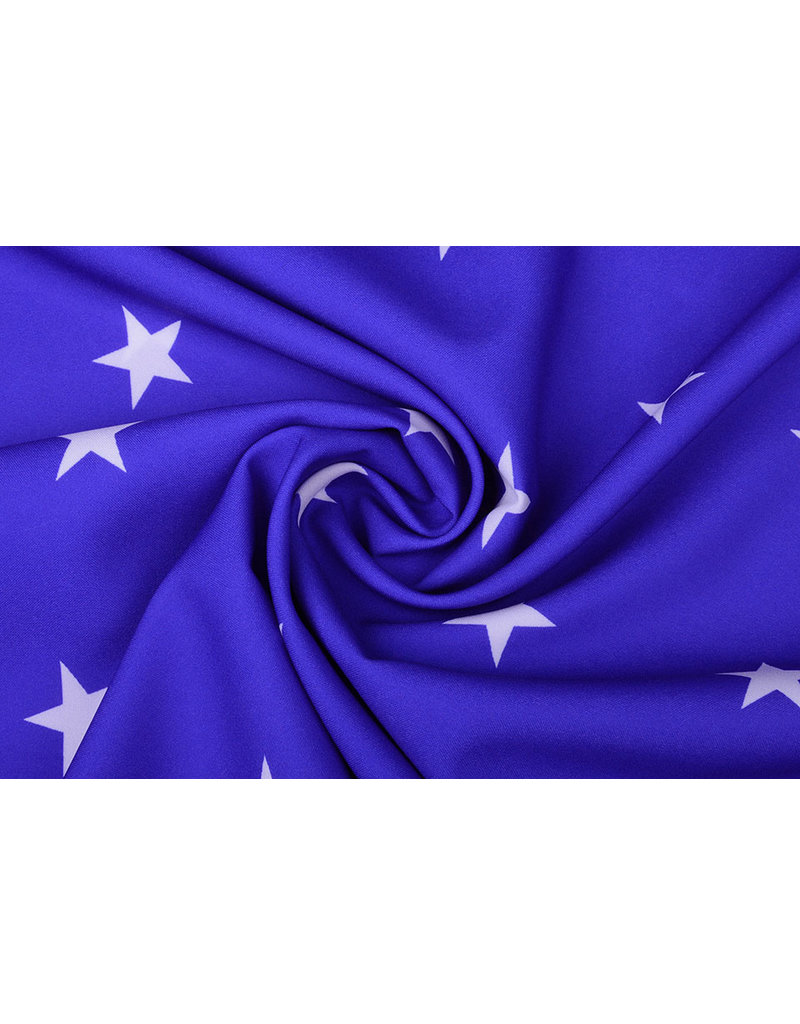 Bi-Stretch Sterne Königsblau