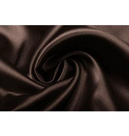 Stretch Satin Dark Brown