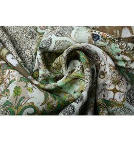 Crepe digital  patchwork grün