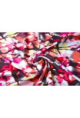 100% Viskose Digital Printed Menas Rot