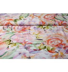 Viscose Digital Kembang Blume Rosa
