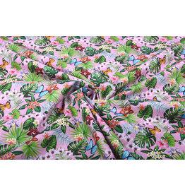 100% Cotton Flora and Fauna Pink
