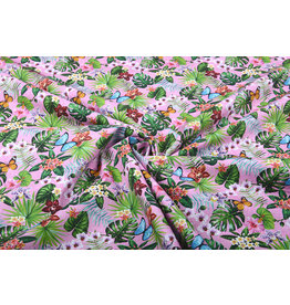 Stenzo 100% Cotton Flora and Fauna Pink