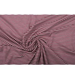 Viscose Jersey Stripes Cherries Sand