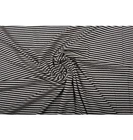 Viskose Jersey Streifen Sand Schwarz