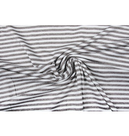 Viscose Jersey Stripes Grey White