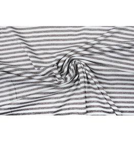 Viskose Jersey Streifen Grau Weiß