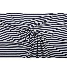 Viscose Jersey Stripes Navy White