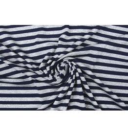 Viscose Jersey Stripes Navy Grey