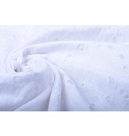 Stickerei Baumwoll  Koko  Weiß
