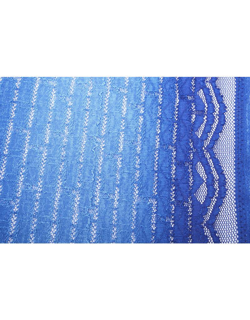 Kant Strepen Koningsblauw