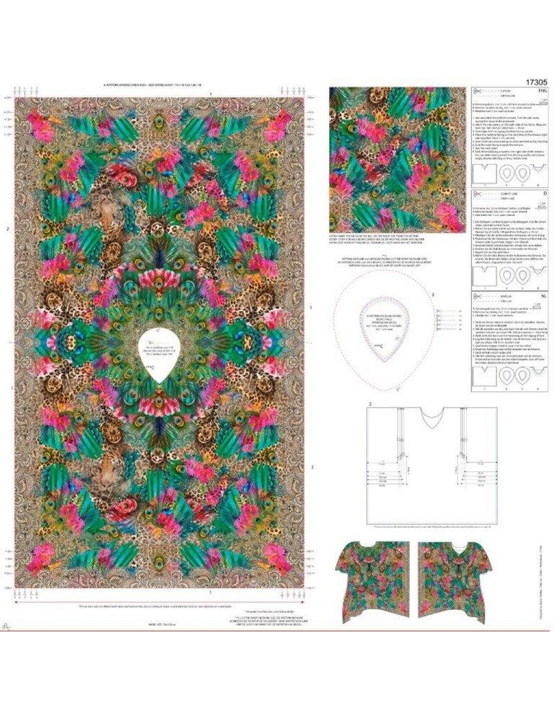 Stenzo Digitaal Paneel Kinder Kimono Pauw