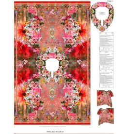 Stenzo Digital Panel Damen Kimono Blumen