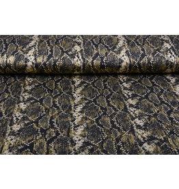 Lycra Snake Black Gold
