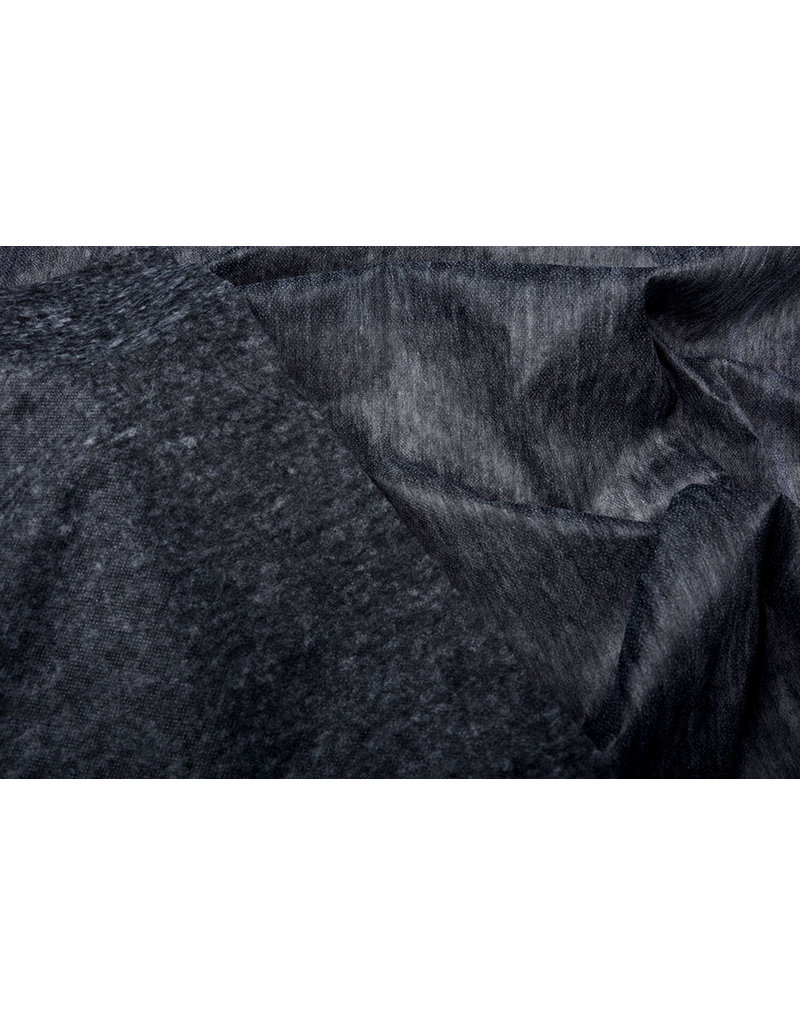 IMITATIE Vlieseline plakvlies Zwart Grijs
