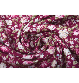 100% Cotton Mawar Roses Cyclaam