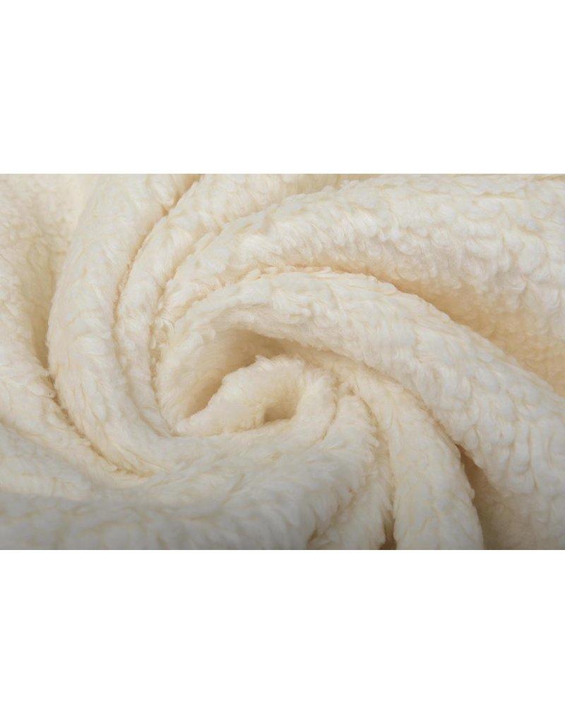 Baumwolle Teddystoff Creme