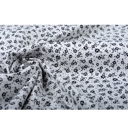 100% Cotton Primrose Black White