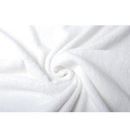 Baumwolle Teddystoff Weiß