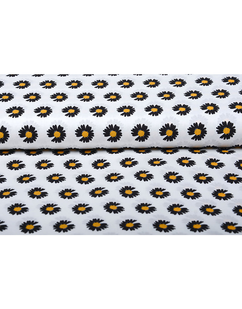 100% Baumwolle Margida Weiß Schwarz