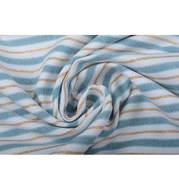 Cotton Stripes Blue Gold