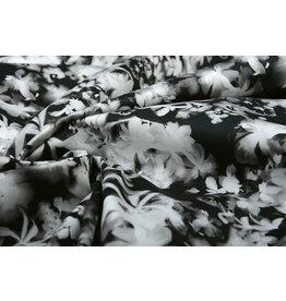 Stretch Cotton Silvestres Black White