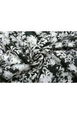 Baumwoll-Stretch Silvestres Schwarz Weiß