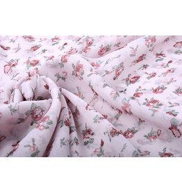 Yoryu Chiffon Bedrukt Roze Roosjes