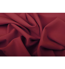 Crepe Stretch Wine Red