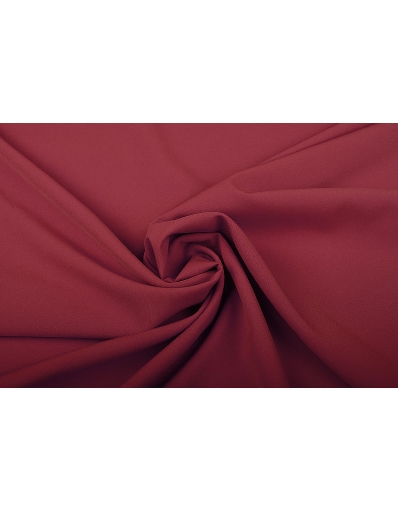 Crepe Stretch Wein Rot