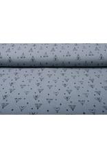 Oeko-Tex®  Baumwoll Musselin Tipi-Zelt Mittel Grau