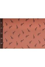 Oeko-Tex®  Baumwoll Musselin Giraffe Brique