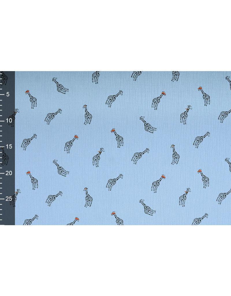 Oeko-Tex®  Baumwoll Musselin Giraffe Leichte Jeans