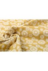 100% Gewaschene Baumwolle Bulatan Mandala Ocker Gelb