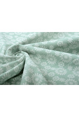 100% Gewaschene Baumwolle Bulatan Mandala Helles  Altgrün