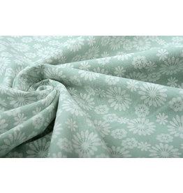 100% Washed Cotton Bulatan Mandala Light Old Green