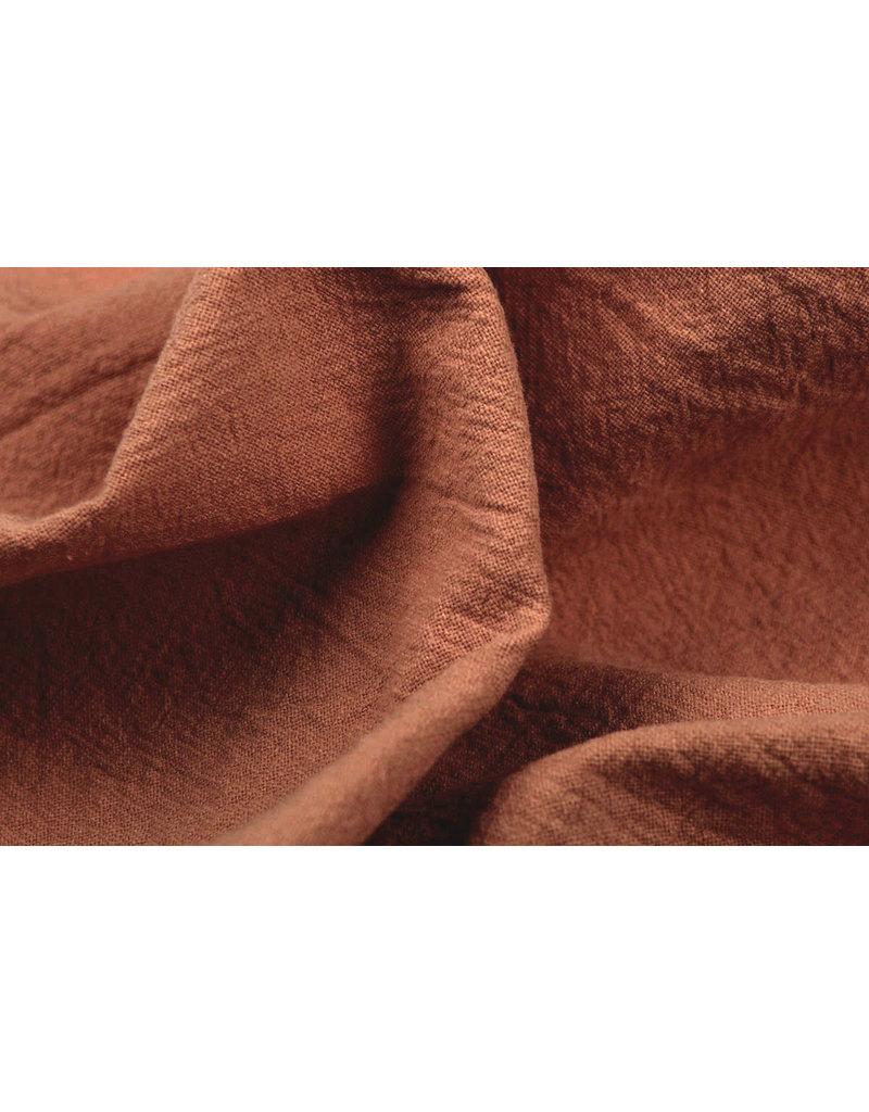 100% Gewaschene Baumwolle Dunkel Brique
