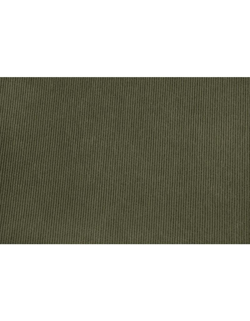 Cordstoff 16 W Armeegrün