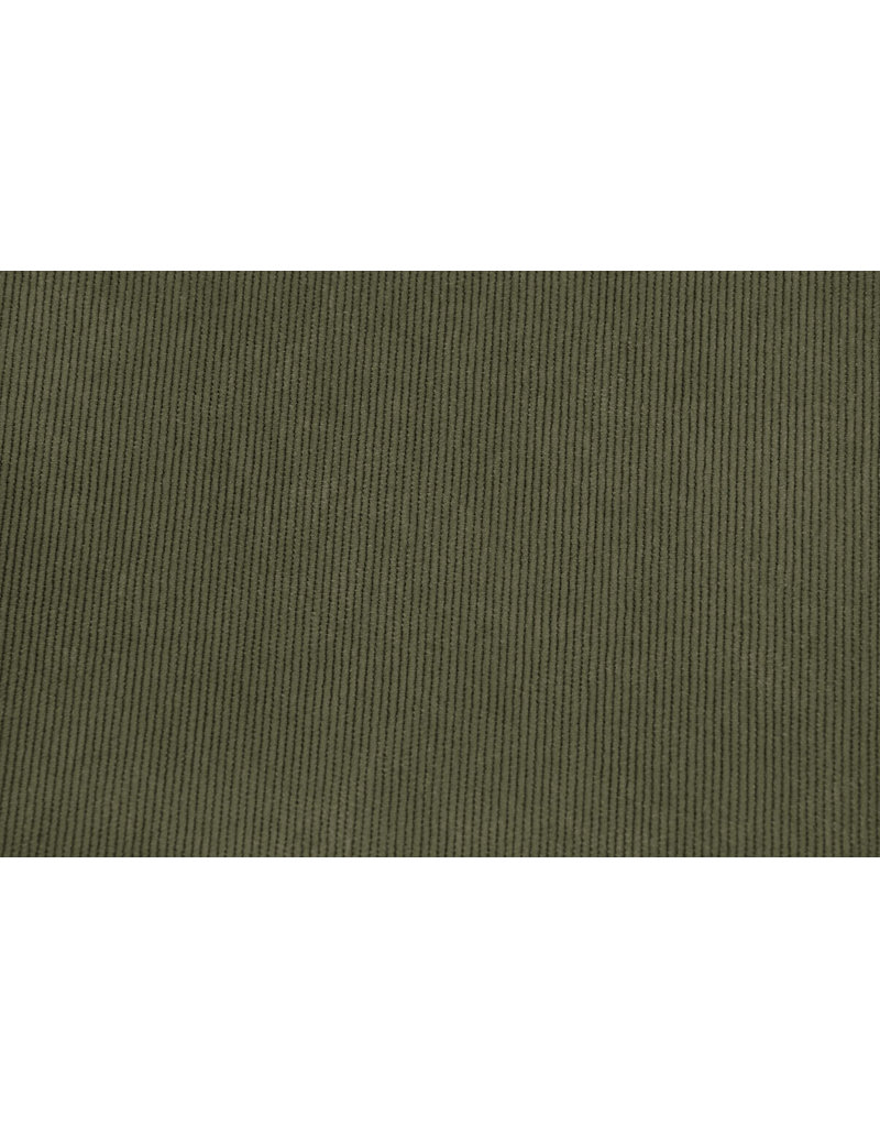 Cordstoff Armeegrün