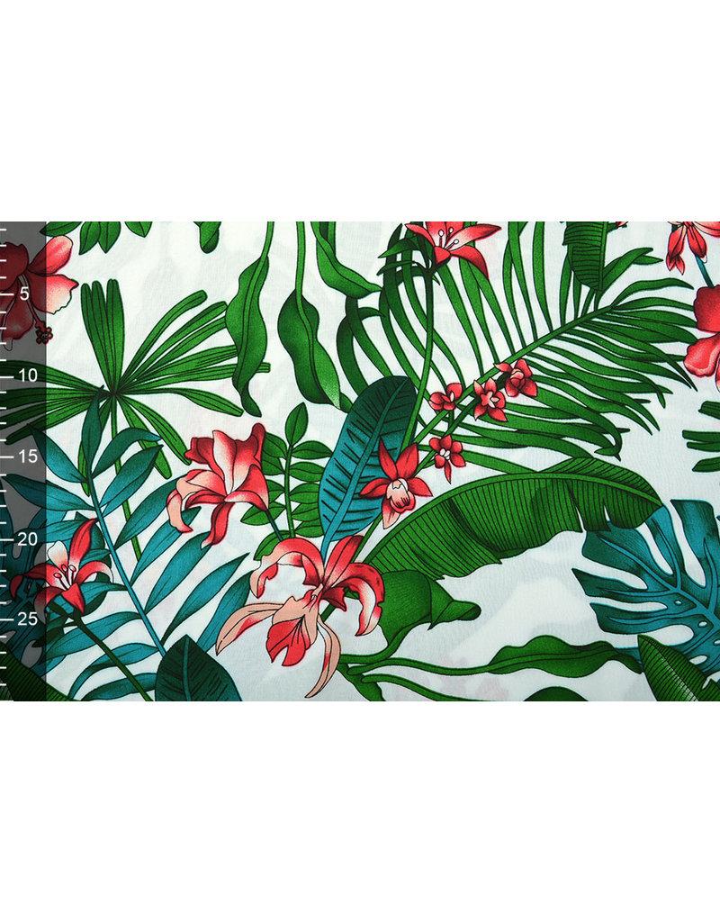 100% Viskose Yuna Blumen und Blätter